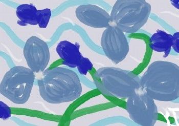 青い花と魚.mini.JPG
